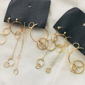 Free People Copper & Gold Statement Earrings